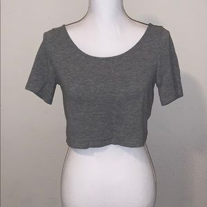 Divided Gray Crop Top